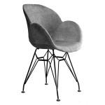 صندلی صدف کد S 530s پایه ایفلی (استاتیک)